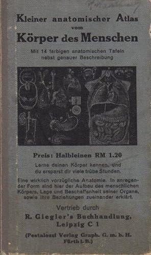 Kleiner anatomischer Atlas vom Körper des Menschen.: