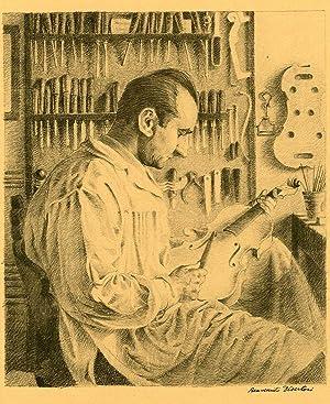 Il liutaio Giacomo Bisiach (c. 1934).: DISERTORI, Benvenuto.