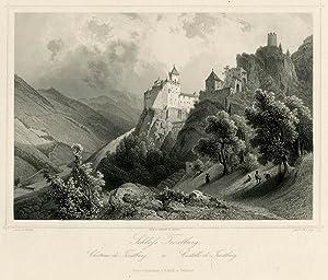 Schloss Trostburg.: Château de Trostburg. Castello di: WÜRTHLE, Friedrich Karl.