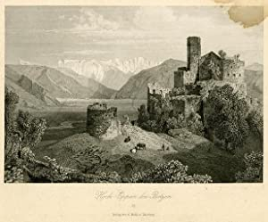 Schloss Hoch-Eppan bei Botzen.: WÜRTHLE, Friedrich Karl.
