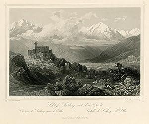 Schloss Kurburg mit dem Ortles.: Château de: WÜRTHLE, Friedrich Karl.