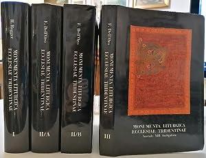Monumenta liturgica Ecclesiae Tridentinae saeculo XIII antiquiora.: DELL'ORO, F. -