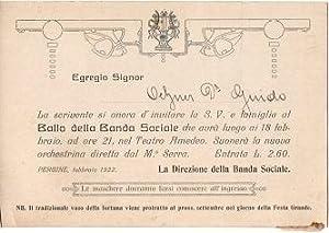 Banda Sociale: Pergine.: BALLO - INVITO