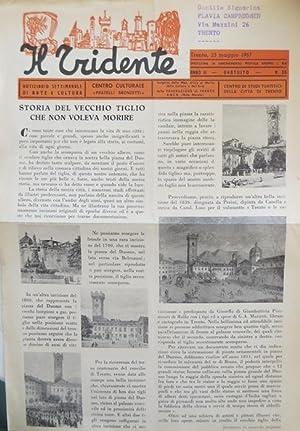 Il tridente: notiziario settimanale di arte e: BERTOLUZZA, Aldo.