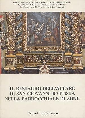 Il restauro dell'altare di San Giovanni Battista