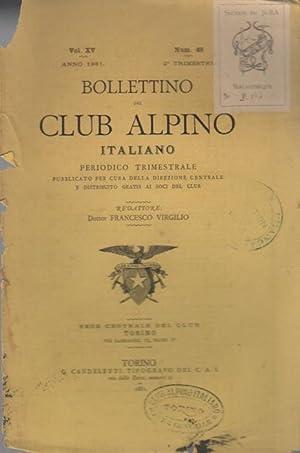 Bollettino del Club Alpino Italiano.: Vol. XV - N. 46 - Anno 1880 (II trimestre).