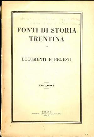 Regesti castrobarcensi dell'archivio dei conti Trapp.: Fonti: AUSSERER, Carl.