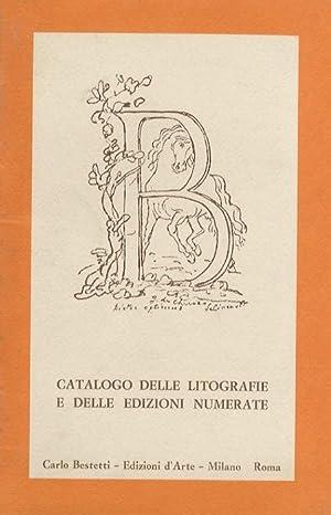 Catalogo delle litografie e delle edizioni numerate.