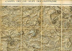 Carta delle Alpi Dolomitiche. Foglio ovest.: CARTOGRAFIA - DOLOMITI - TIPOGRAFIA ZOPPELLI].