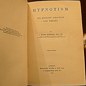 Hypnotism, Its Theory, History and Practice,: J Milne Bramwell