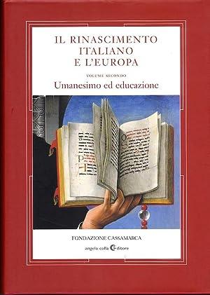 Umanesimo ed educazione. Il rinascimento italiano e