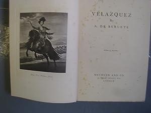 VELAZQUEZ (A FIRST PRINTING): A.DE BERUETE