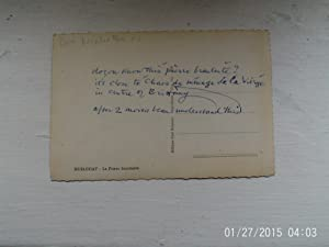 LETTER SIGNED BY BEN NICHOLSON/POSTCARD WRITTEN BY BEN NICHOLSON.CATALOGUE INSCRIBED BY BEN ...