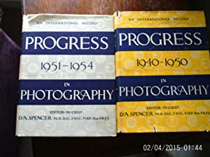 AN UNTERNATIONAL RECORD-PROGRESS-1940-1950 & 1951-1954 IN PHOTOGRAPHY (FIRST PRINTINGS) 2 ...