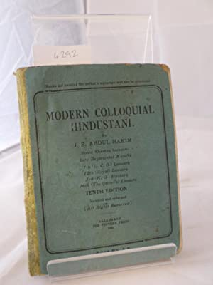 Modern Colloquial Hindustani (Tenth Edn. Revised and: J R Abdul