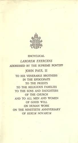 On Human Work / Laborem Exercens: On: John Paul II