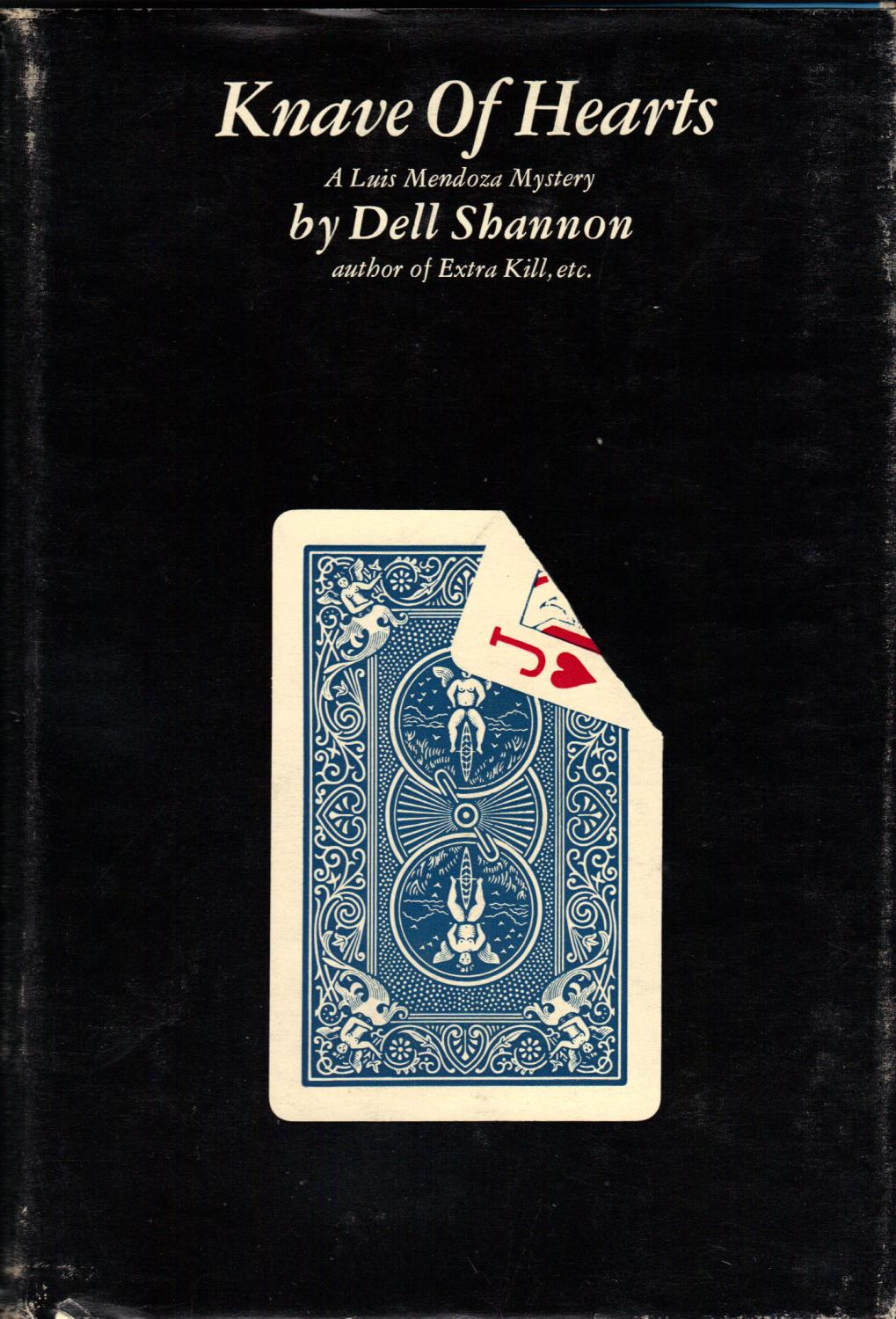 KNAVE OF HEARTS SHANNON, Dell NEAR FINE in VERY GOOD dust jacket. HARDCOVER. 1962. FIRST EDITION. Bound in blue boards in black Bicycle Club jack of hearts dust jacket. Square and