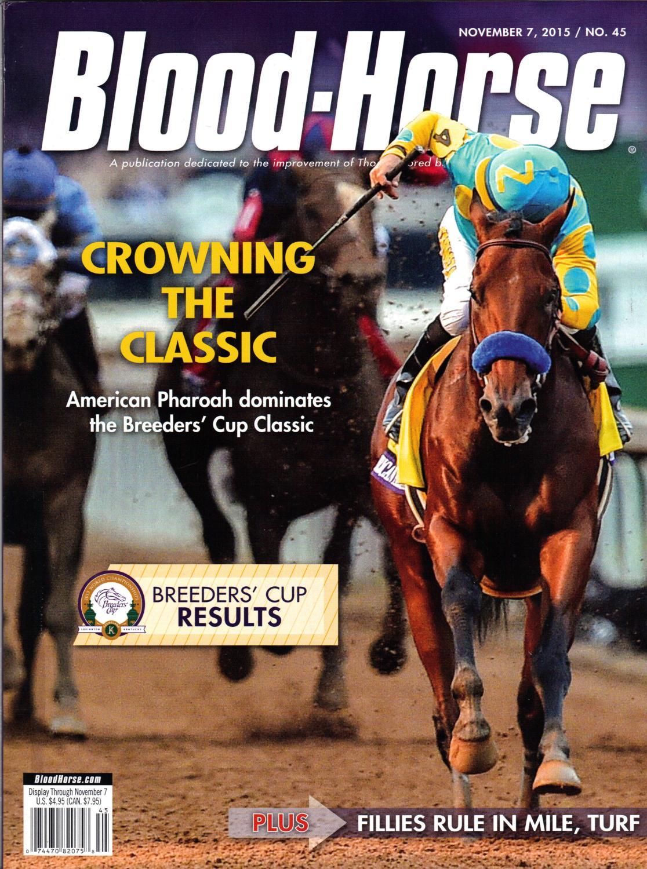 Blood Horse November 7 2015 No 45 Crowning The