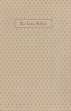 THE LETTER KILLETH: ROSENBERG, Betty