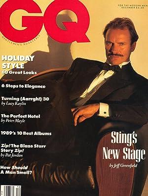 GQ ~ DECEMBER 1989: KAPLAN, Eliot ~ Editor