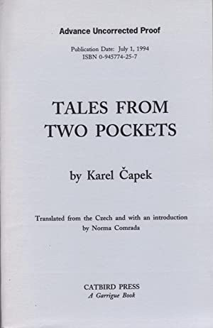 TALES FROM TWO POCKETS: CAPEK, Karel