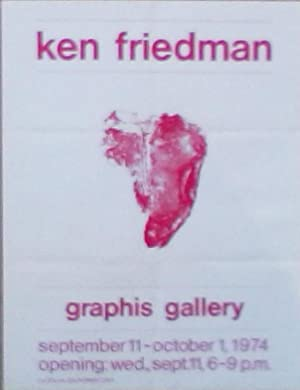 Plakat: Ken Friedman. Graphis Gallery. September 11 - October 1, 1974.