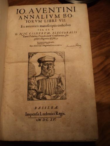1615 Annals of BAVARIA / Bavarian Johannes Aventinus / German Germany Masterpiece: ...