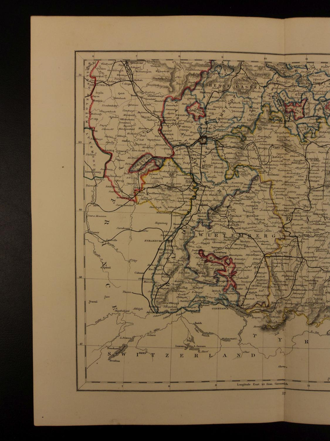 Map Of Germany To Color.Color Steel Map Southern Germany Bavaria