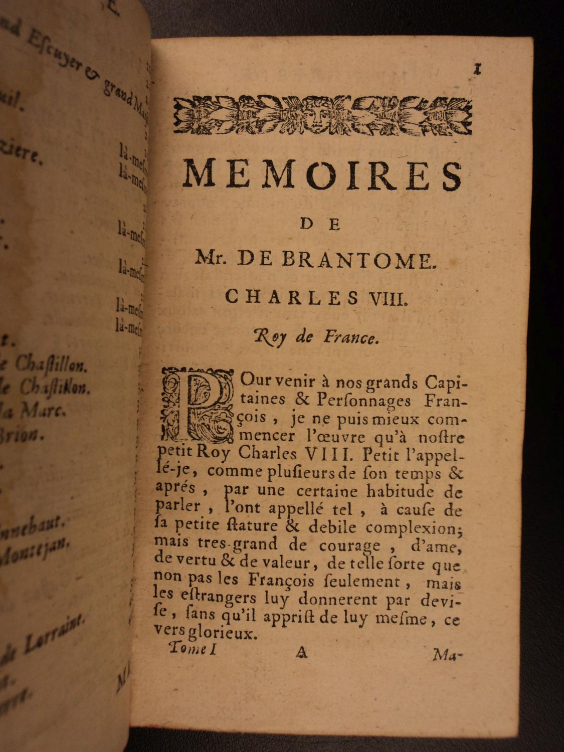 1699 Brantome MEMOIRS Controversy Scandalous Sexuality Homosexuality Lesbianism: Pierre de ...