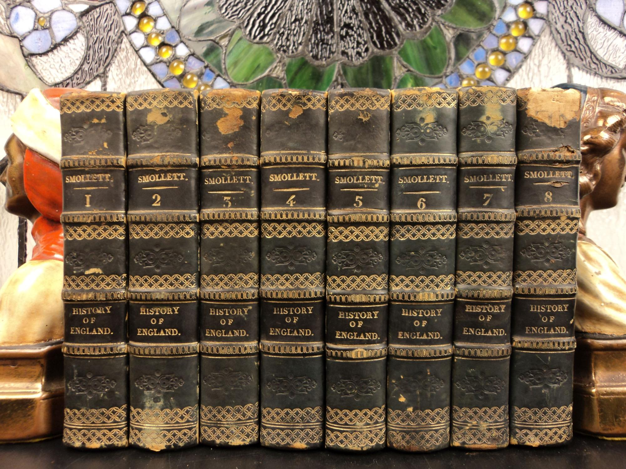 1794 History of England Scotland Great Britain David HUME Illustrated 8v SET: T Smollett; David ...