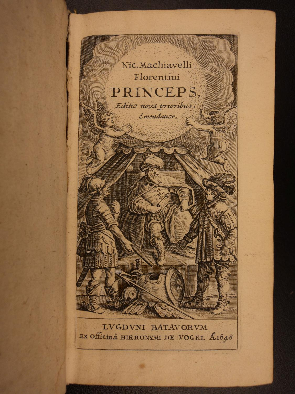 1648 Machiavelli The PRINCE Florence Italy Politics Italian Renaissance Medici: Niccolo Machiavelli...