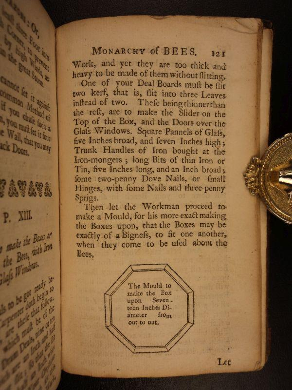 1749 BEST edition Joseph Warder BEES Beekeeping Melittology Apiology Drone Bee: Joseph Warder