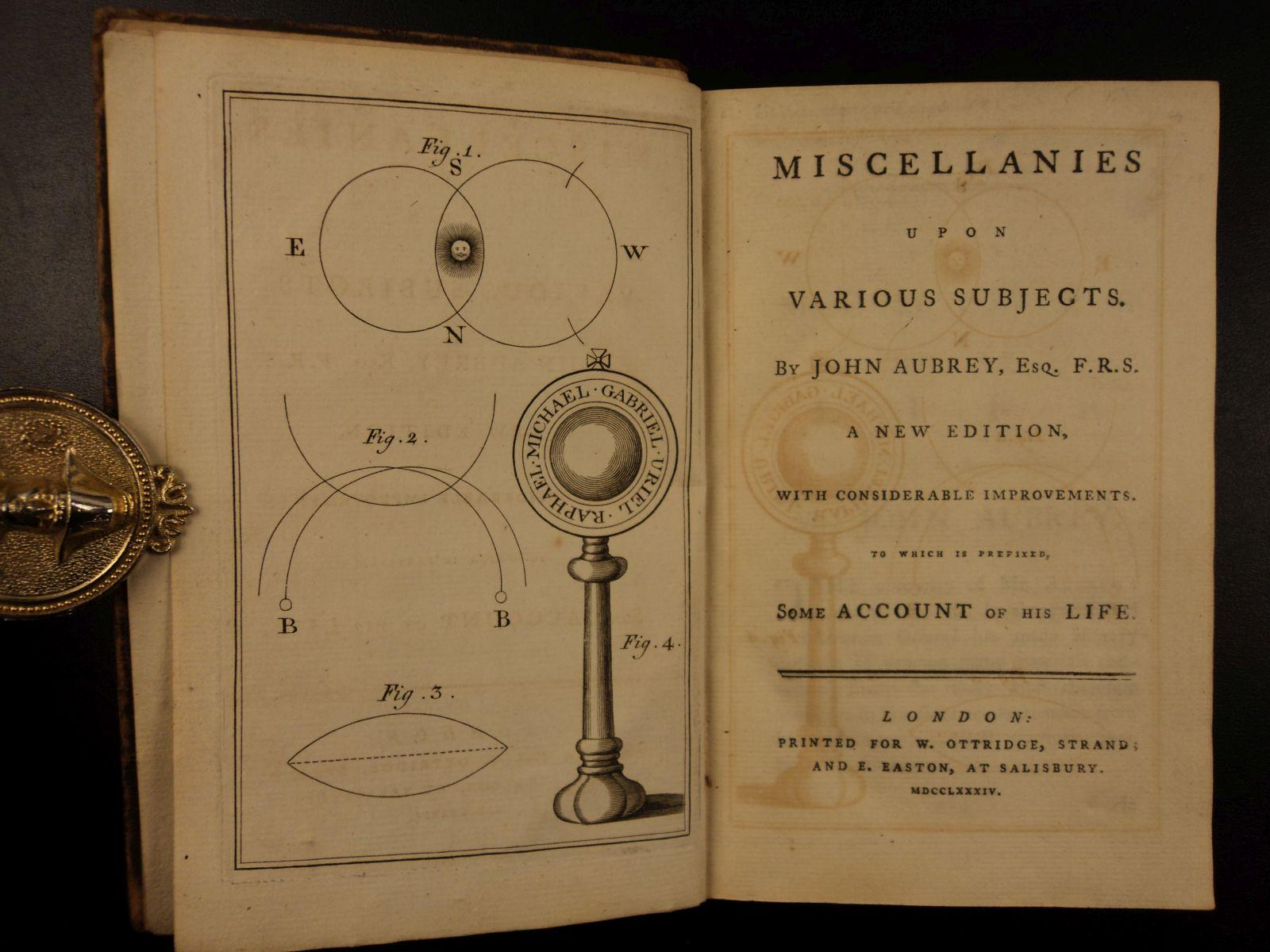 1784 John Aubrey Occult Esoteric Levitation Prophecy Magic Ghost Spells Hermetic