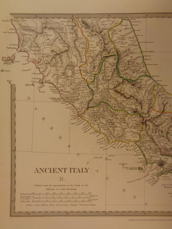 Tarentum Italy Map.1844 Beautiful Huge Color Map Of Ancient Italy Gulf Of Tarentum