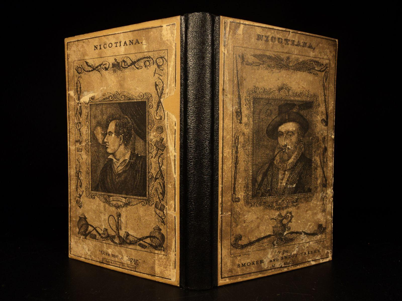 """1832 1st ed Nicotiana Smokers Companion Cigars Cigarettes Smoking TOBACCO Poetry MELLER, Henry James Near Fine Hardcover 1832 1st ed Nicotiana Smokers Companion Cigars Cigarettes Smoking TOBACCO Poetry """"Weed of the strange power, Weed of the earth Killer of dullness- Par"""