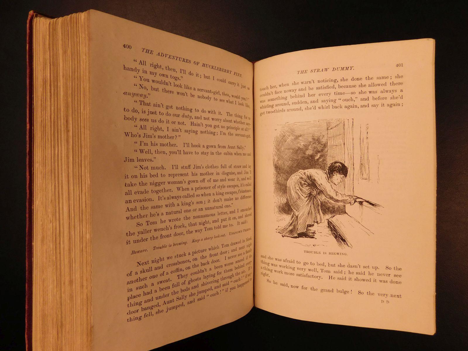 1884 1st UK ed Adventures of Huckleberry