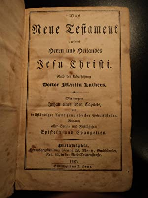 1837 Philadelphia Printing of Martin Luther Bible / German / Americana Mentz: Martin ...