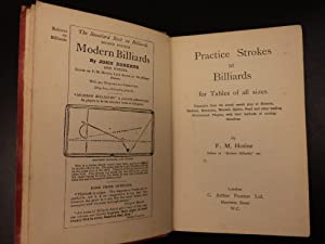 Practice Strokes at BILLIARDS FM Hotine Pool Cue Sports Snooker Illustrated: F. M. Hotine