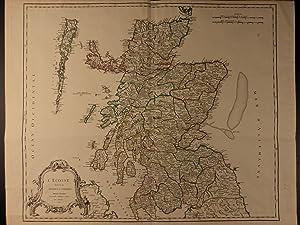 LARGE Color Map of SCOTLAND United Kingdom Scottish Ecosse Robert Vaugondy: Robert de Vaugondy