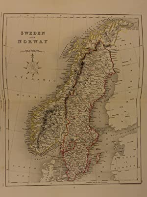 Color Steel Map SCANDINAVIA Sweden Norway Finland: John Wykeham Archer