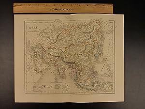 Color Steel Map ASIA China India Japan Korea Iraq RUSSIA 41cm X 32cm: John Wykeham Archer