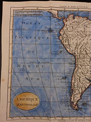 Color Copper Map SOUTH AMERICA Brazil Peru Chili Venezuela Paraguay