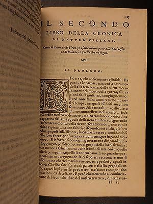 1554 Nuova Cronica New Chronicles of Giovanni Villani Florence Italy Banking: Matteo Villani; ...
