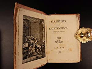 1786 Candide by Voltaire French Satire Age of Enlightenment Scandalous Novel 2v: Voltaire