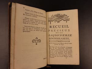 1787 Adonhiramite Freemasonry Masonic Rites Ritual Guillemain Franc Maconnerie: Louis Guillemain de...