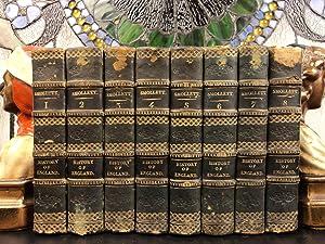 1794 History of England Scotland Great Britain David HUME Illustrated 8v SET: T Smollett; David ...