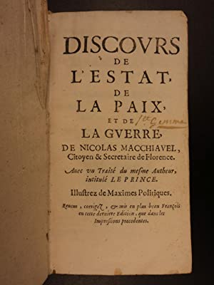 1664 Machiavelli Discourses on Titus Livy Italian Renaissance Roman History ROME: Niccolo ...