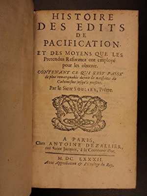1682 Edict of Nantes Protestant Reforms in Catholic France Huguenot Calvinism: Soulier