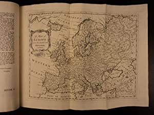 1744 Churchill Voyages & Travels CHINA Poland Ukraine MAP of Europe Unicorns: Awnsham Churchill...