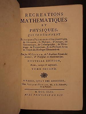 1749 Ozanam Cosmography & Mechanics Clocks Horology Stars Sundials Mathematics: Jacques Ozanam